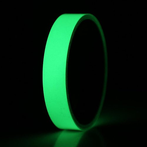 Glow Tape Self-Adhesive Sticker Removable Luminous Tape Fluorescent Glowing Dark Striking Warning Tape