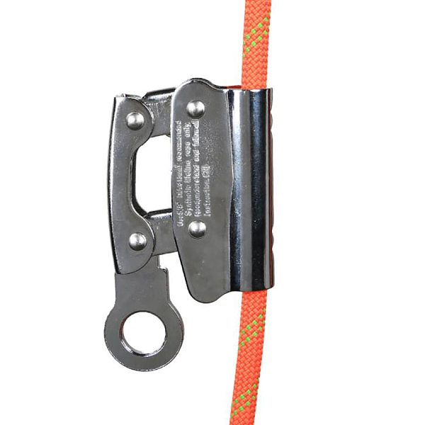 Rope Grab Self-Locking Alloy Steel Rope Grab Fall Protection Riser Fits 8-16mm Rope for Outdoor Climbing Mountaineering