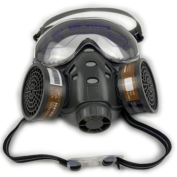 Gas Mask With Safety Glasse Spray Paint Chemical Pesticide Decoration Anti-Dust With Filter Respirator Full Face Masks