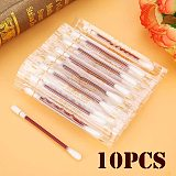 10/50/100pcs Disposable Emergency Cotton Stick Iodine Swab Home Outdoor First Aid Kit Double Head Medical Cleaning Supplies