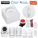 FUERS G95 Wifi GSM Alarm System Smart Life Alarm Home Security Alarm System Tuya APP Alexa 433MHz Smart Home Burglar Alarm
