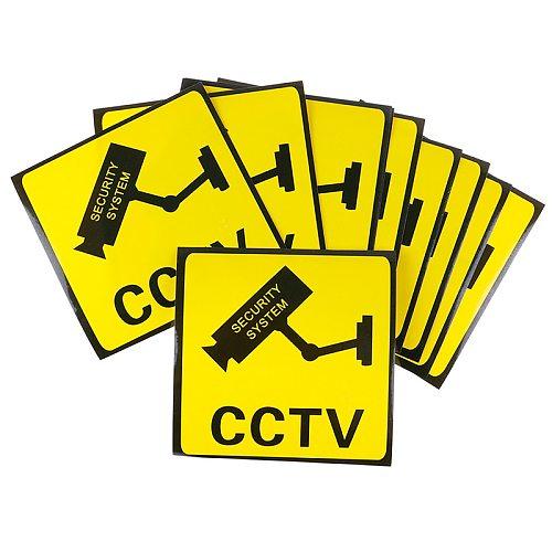10Pcs CCTV Video Surveillance Security Camera Alarm Sticker Warning Signs