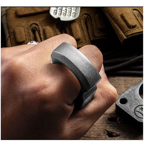 EDC Metal Steel Outdoor Survival Tool EDC Tactical Tool Multifunctional Ring Pendant Ring Pendant Window Breaker