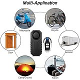 Remote Control Anti Lost Bike Alarm Motorcycle Electric Car Vehicle Security Waterproof Wireless Vibration Detector Alarm