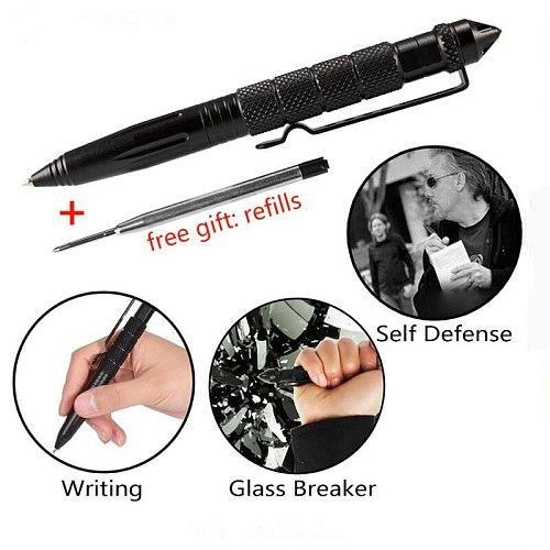 Defence Tactical Pen Pocket Aluminum Anti skid Military Pen Tungsten steel head Self Defense Pen Glass Breaker Survival Kit Pens