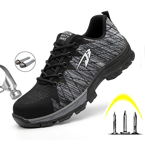 Men Safety Shoes With Boots Sport Work Shoes For Men Protective Steel Toe Cap Boots Work Indestructible Construction Shoes Male