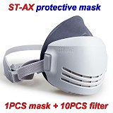 Protective Mask Anti-dust Lime Powder Cement Asbestos Woodworking Decoration Dusting Smog Pm2.5