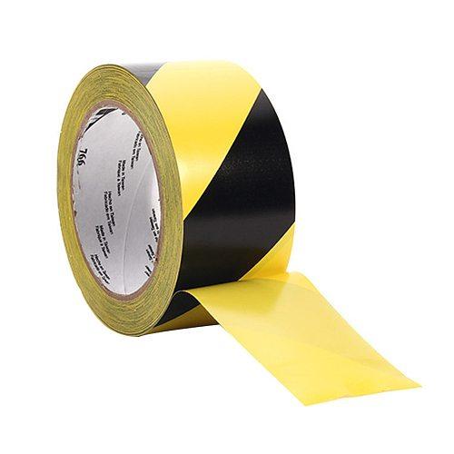 33mx50mm Self Adhesive Striped Social Distancing Dangerous Areas Wear-resisting Safety Marking Floors Waterproof Warning Tape