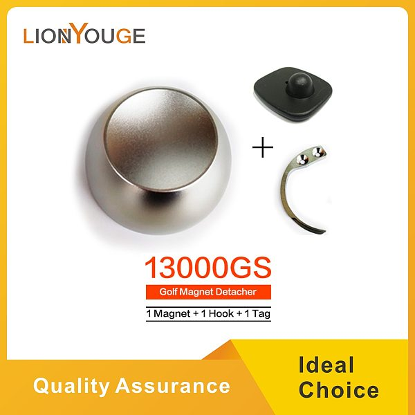 Original 15000GS EAS Magnetic Golf  Detacher Tag Remover Universal Magnet Eas Golf Detacher Security Lock Key With 1 Hook 1 Tag