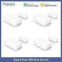 Aqara Door Window Sensor Zigbee Wireless Connection Smart Mini Door Sensor Work With Gateway Hub For Homekit Mi Home App Control