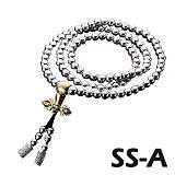 High Quality Outdoor 108 Buddha Beads Self Defense Hand Bracelet Necklace Chain Full Steel Chain Personal Protection Supplies