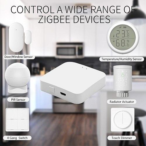 Tuya Smart ZigBee Hub Gateway Smart Home Bridge Smart Life APP Wireless Remote Controller Works with Alexa Google Home