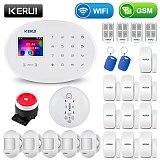 KERUI WIFI GSM Smart Home Security Alarm System With 2.4 Inch TFT Touch Panel APP Control Wireless Sensor Burglar IP Camera