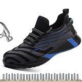 2020 Men Safety Shoes Steel Toe Cap Anti-smashing Anti-piercing Men Work Safety Shoes Fashion Lightweight Black Sport Work Shoes