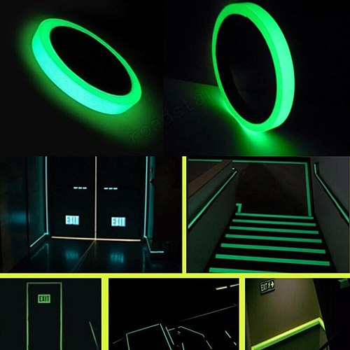 Self-adhesive Glow In The Dark Sticker Tape Safety Security Home Decoration Warning Tape