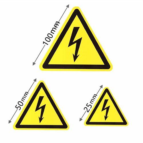 1/3/5Pcs Car Sticker Decal Vinyl Car Bike Bumper Electric Warning Danger Sign 25mm 50mm 100mm PVC Waterproof Danger Notice
