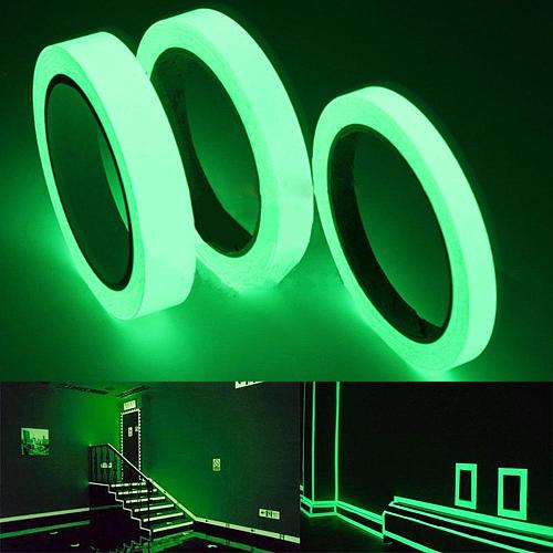 10M Luminous Tape Self-adhesive Glow In The Dark Stage Sticker Home Decor 1cm 2cm Home Decoration Safety Tapes