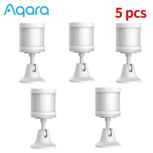 1-5pcs Aqara Sensor Smart Human Body Sensor ZigBee Motion Security Wireless Sensor Smart Home Work for Homekit/Mi Home