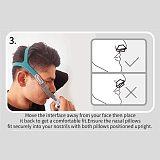 for BMC-P2 CPAP Nasal Pillow Case W Headgear S M L Cushions Sleep Helper for Snoring