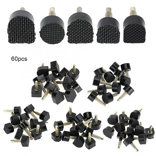 60PCs/set (5 Different Size) High Heel Stoppers Women Shoe Repair Tips Taps Dowel Lifts Replacement For High Heel Tips Taps Safe