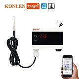 Tuya WiFi Temperature Sensor Thermometer Detector Smart Life App Alert Home Thermostat Control Alarm Remote Monitor Freezer Test