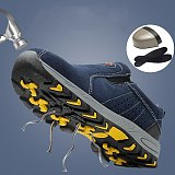 Steel Toe Safety Work Shoes Men Fashion Summer Breathable Slip On Casual Boots Mens Labor Insurance Puncture Proof Shoes