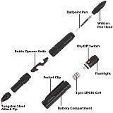 Multi-Function Military Self Defense Weapons For Women Tactical  Pen EDC Emergency Glass Breaker Waterproof Camping Survival