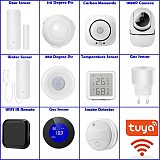 Tuya Smart WiFi IR Remote Door Motion Temperature Sensor Water Smoke Gas Detectors WiFi App Notification Home security alarm