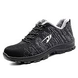 Fashion Summer Women Steel Toe Puncture-proof Unisex Safety Casual Work Shoes Outdoor Sneakers Breathable Mesh Boots