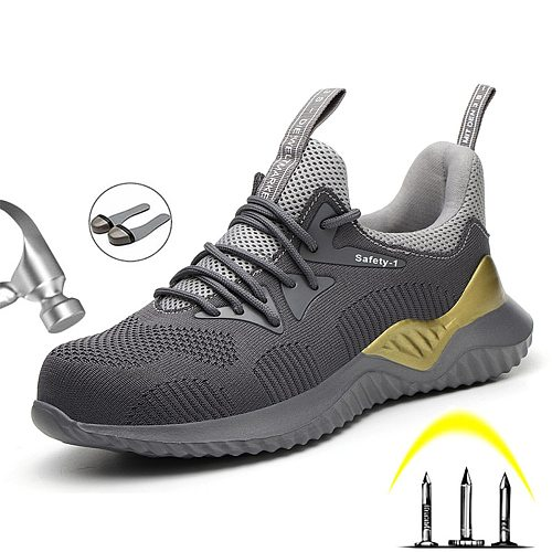 2020 Summer Safety Work Shoes Boots For Men Steel Toe Cap Boots Anti-Smashing Protective Construction Safety Work Sneakers