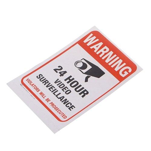 Free shipping 10pcs/lot  PVC CCTV Video Surveillance Security Sticker Warning Signs