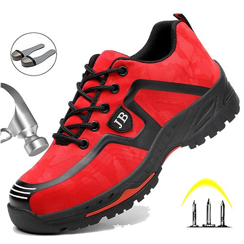 European Plus Size 48 Men Spring Summer Light Breathable Deodorant Safety Work Shoes Steel Toe Safety Shoes Cap Protective Shoes