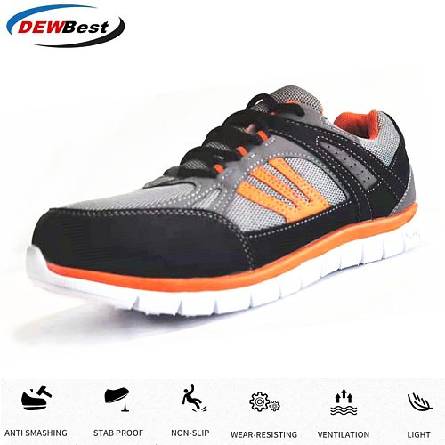 Aramid Men's Breathable Steel Toe Cap Work Safety Shoes Men Outdoor Anti-slip Steel High Quality Construction Safety Boots Shoes