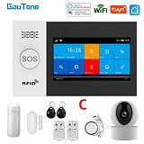 GauTone PG107 Wifi GSM Alarm System for Home Security Alarm Support Tuya APP Remote Contorl With IP Camera Support Alexa