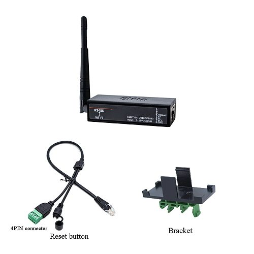 Serial Port RS485 to WiFi Serial Device Server Elfin-EW11 Support TCP/IP Telnet Modbus TCP Protocol IOT Data Transfer Converter