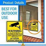 1/5pcs Warning sticker PVC Camera Alarm Sticker Waterproof Sunscreen  Home CCTV Video Surveillance Security  Decal Signs