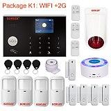 Tuya Smart WIFI 2G/ 4G 3G GSM Home Security Alarm System Burglar Kit Wireless Wired With Google Alexa IP Camera House Protection