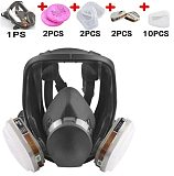 3 Interface Gas Mask with Filter Cotton and Box Full Face Facepiece Respirator