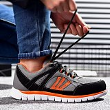 Four seasons safety shoes men's and women's light anti slip single mesh sports shoes fashion casual work shoes