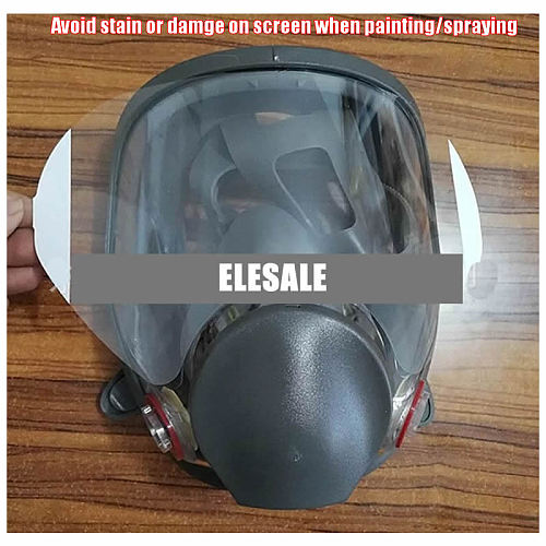 High Quality Protective Film For 3M 6800 Gas Respirator Full Face Mask Window Screen Protector Painting Spraying Mask