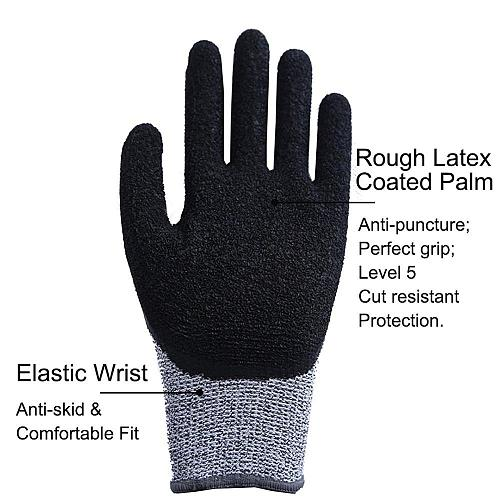 Level 5 Cut Proof Stab Resistant Wire Metal Glove Kitchen Butcher Cuts Gloves for Oyster Shucking Fish Gardening Safety Gloves