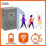 People Visitor Counter with Visitor Chime Function Wireless, Non Directional Footfall Counter | Door Counter | Customer Counter