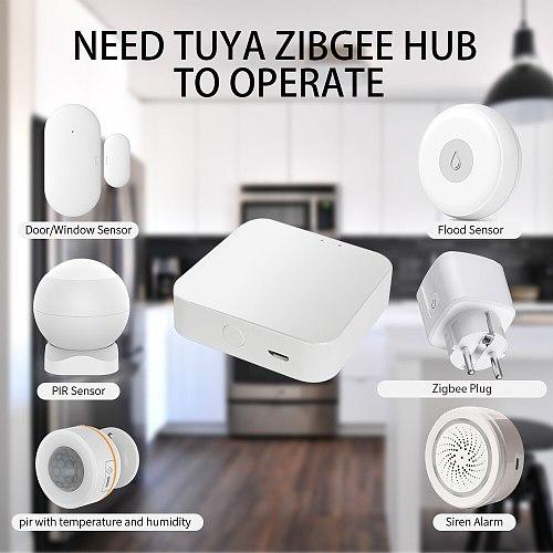 Tuya Smart Zigbee Plug 16A EU Outlet 3680W Power Meter Compatiable With Alexa Home Assistant And Tuya Hub