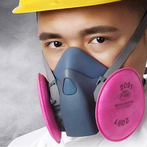 7501 7502 7503 With 6Pcs 2091 Mask Respirator For Polishing And Cutting Fiber Welding Pro Protection Suit
