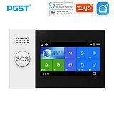 PGST PG-107 Tuya Wireless Home WIFI GSM Home Security With Motion Detector Sensor Burglar Alarm System APP Control Support Alexa