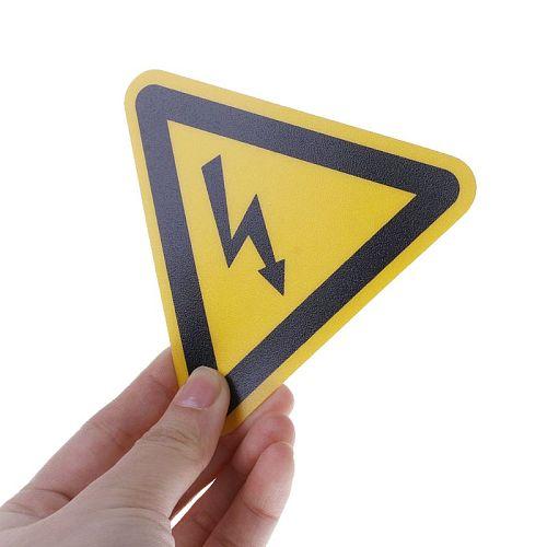 Free shipping Warning Sticker Adhesive Labels Electrical Shock Hazard Danger Notice Safety 25mm 50mm 100cm PVC Waterproof  HM