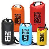 PVC Waterproof Dry Bag 5L 10L 20L 30L Outdoor Diving Foldable Storage Man Women Beach Swimming Bag Rafting River Ocean backpack