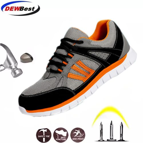 Summer breathable safety shoes men's and women's light antiskid sandals single mesh sports shoes fashion casual work shoes
