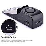 120 DB 3 Adjustable Sensitivity Levels Mini Wireless Vibration Alarm Door Stop Alarm For Home Security System Anti-Slip
