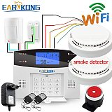 Wired & Wireless 433MHz, Wifi PSTN GSM Home Burglar Security Alarm System Smart Home Relay Output APP Russian Spanish 7 language